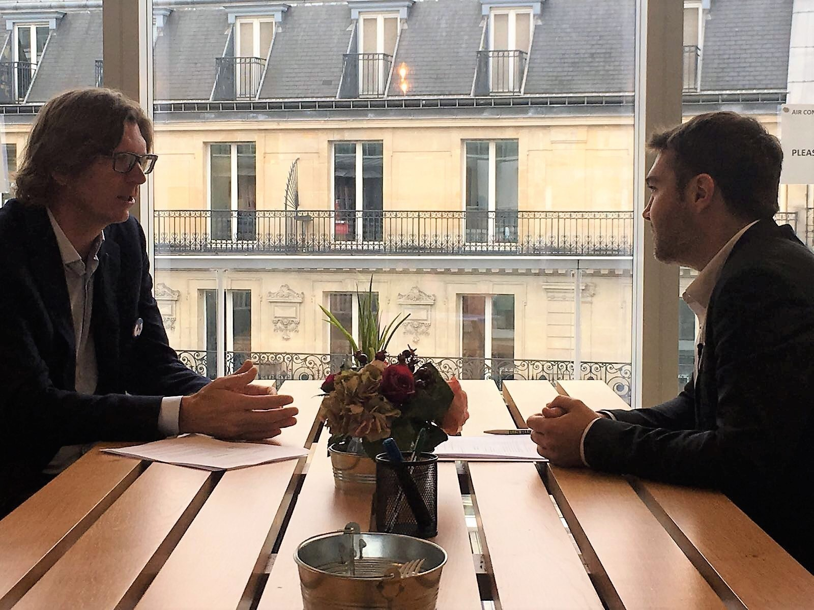 Meeting with Niklas Zennstrom, Europe connector for WONDERLEON in Paris